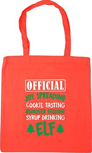 Hippowarehouse Official joy spreading cookie tasting elf Tote Shopping Gym Beach Bag 42cm x38cm, 10 litres