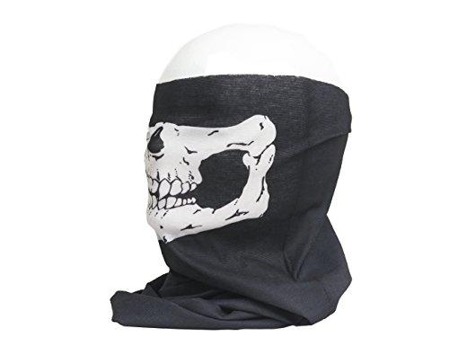 shenky - Pañuelo multiusos - Uso como fular, braga y bandana - Calavera y máscara - Talla única