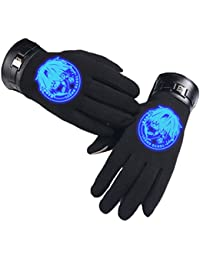 Bromeo Tokyo Ghoul Anime Invierno Calentar Luminoso Pantalla táctil Guantes Gloves Mittens