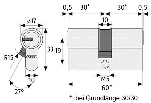 ABUS Profil-Zylinder D6XNP 30/40 mit Codekarte und 5 Schlüsseln - 3