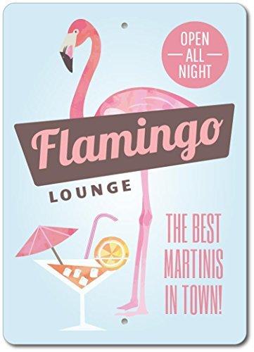 Norma Lily Flamingo Zeichen, Flamingo Decor, Flamingo Geschenk, Flamingo Lounge Zeichen, Beach Lounge Decor, pink Lover Geschenk, Qualität Aluminium 12x 18Metall Schild.