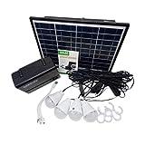 Generador de almacenamiento de energía de panel solar con bombilla LED Cargador de USB Generador...