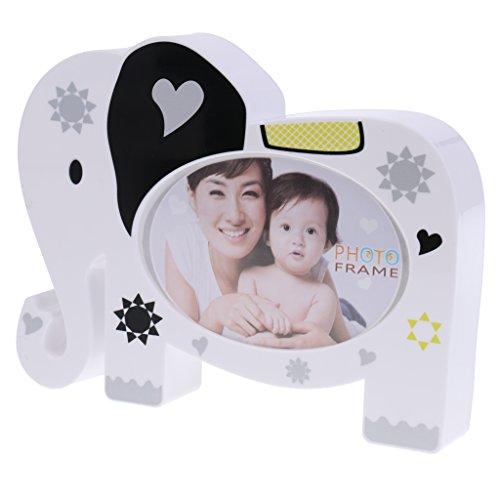 MagiDeal Mini Elefant Foto-Rahmen, Bilderrahmen, mit spardose, Kinder Baby Geburtstag Party Dekoration