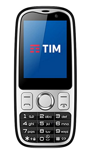 Tim Easy 4G Smartphone, Marchio Tim, 2 GB, Nero [Italia]