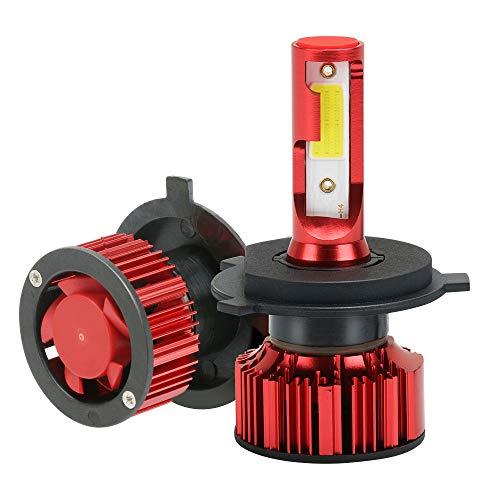 MANLI Lampadine H4 LED Auto Q1/9003/COB 6000LM, Kit 2x Lampada Fari Auto Luce Abbaglianti 50W (25Wx2) 6000K, Sostituzione per Alogena Impermeabile IP68 9V-36V