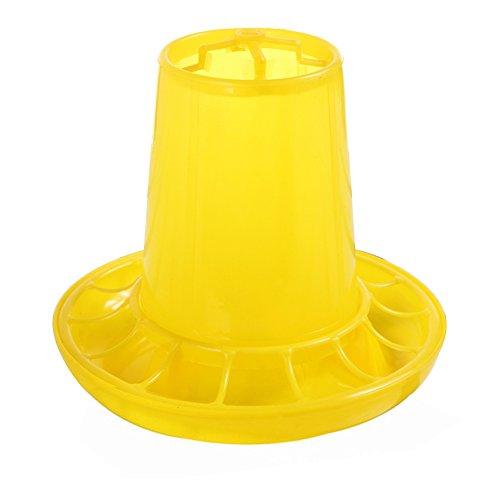 Dyda6 plastica alimentazione secchio poultry feeder per polli galline pulcini anatre, giallo, 1kg