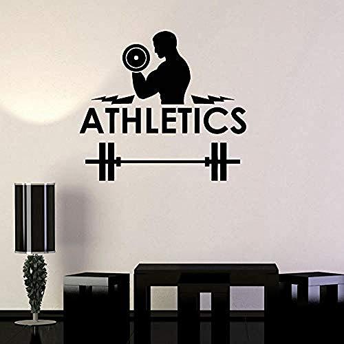 Wandtattoo Leichtathletik Fitness Motivation Gym Wanddekor Vinyl Abnehmbare Muster Wand Künstler Residenz Dekorative Wandaufkleber 42X47 Cm
