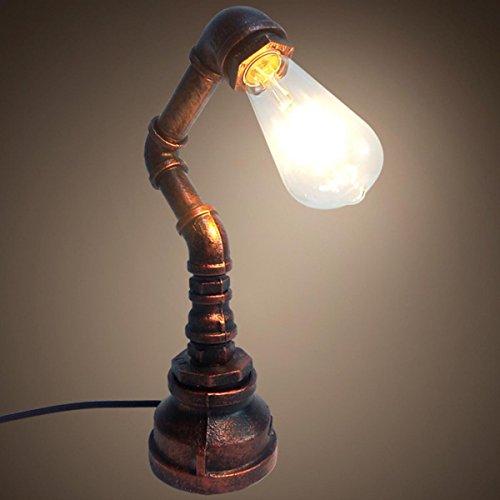 SHDT Loft Creative Vintage Tischleuchte Schreibtisch Lampe Pipe Light Reading Neben Zimmer Home Decor Moderne Licht amerikanischen Retro-Industrie-Stil , 2