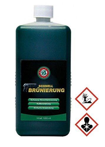 Ballistol Schnellbrünierung für Waffen, 1000 ml für fleckenloses brünieren von Stahl und Eisen