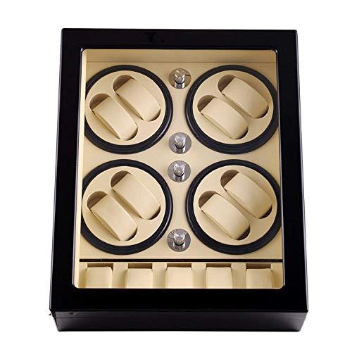 Audivik Uhrenbeweger für Automatikuhren für 8,Batterie Holz Leise Watch Winder 8+5 Box Motor Automatic Uhrenbox Uhrenboxen Uhrenaufbewahrung Uhrenkasten Uhrenvitrine Uhrenschatulle Schwarz