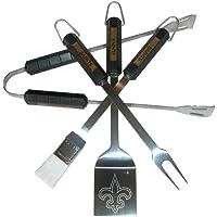 NFL New Orleans Saints 4-Piece Barbecue Set