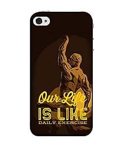 Fuson Designer Back Case Cover for Apple iPhone 4S (Selfie Status Taj Muscular man Herculas )
