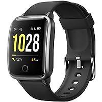 Willful Montre Connectée Femmes Homme Smartwatch Montre Sport Podometre Cardiofrequencemètre Montre Intelligente Etanche ECG Chronometre Alarme GPS Partagé 11 Modes Sport pour iPhone Android Telephone