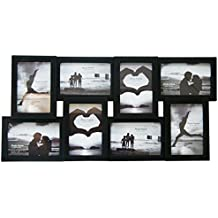 8 Multi Collage Photo Frame - Black by Carousel Home