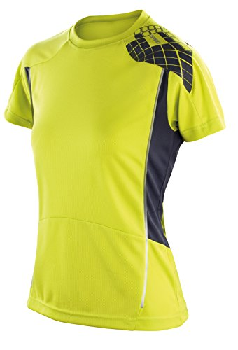 Frauen-Spiro Training Shirt Neon Lime/ Grau