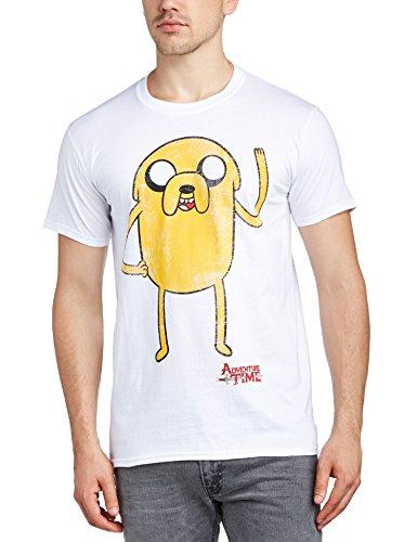 Adventure Time Herren T-Shirt Weiß (White)