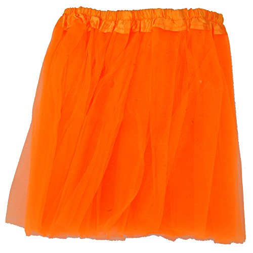 24X7Emall Girls Mini Skirt For Ballet Dance Photography Prop Costume Outfit Party Dancewear (23Cm Length ~ 23-43 Cm Waist-Orange)  available at amazon for Rs.298