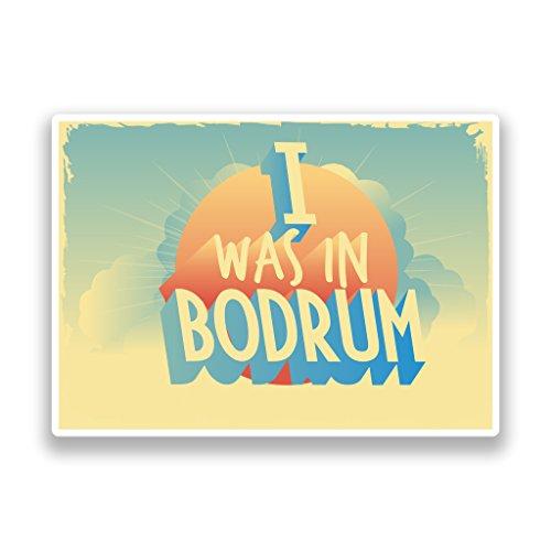 2x I wurde in Bodrum Vintage Vinyl Aufkleber Reise Gepäck # 7257Brautkleid - 25cm/250mm Wide