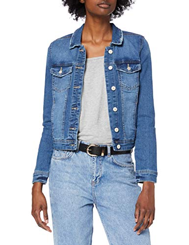 ONLY Damen Jeansjacke Übergangsjacke Denim Jacke Blouson (XS, Medium...