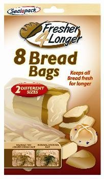 8 PIECE BREAD BAGS FRESHER FOR LONGER 2 DIFERENT SIZES
