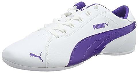 Puma Unisex-Kinder Janine Dance 2 Low-Top, Weiß (Puma White-Prism Violet 06), 36 EU