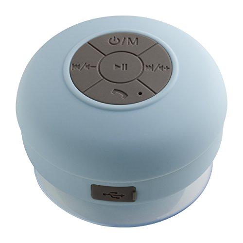 Duschradio mit Bluetooth® Übertragung, 10m Reichweite, hellblau, Freisprecheinrichtung, Befestigung per Saugnapf, AVIGNON, REFLECTS