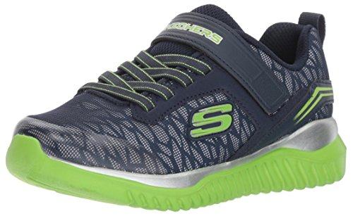 Skechers Jungen Turboshift - Ultraflector Slip On Sneaker, Blau (Navy/Lime), 30 EU