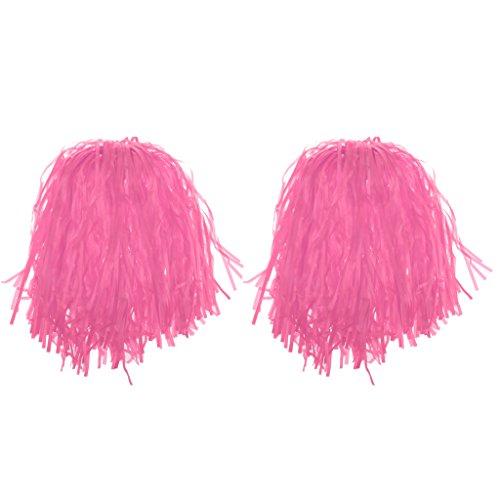 (Homyl 24Stück Pompons Cheerleading Cheerleader Tanzwedel Puschel viele Farben - Rosa)