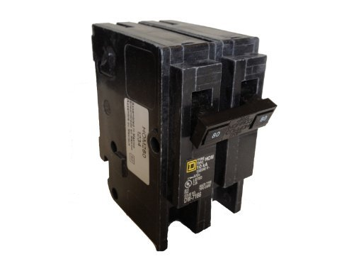 Square D Circuit Breaker, 80 Amp, 2-Pole, HOM280 by Square D Homeline (Square D Homeline)