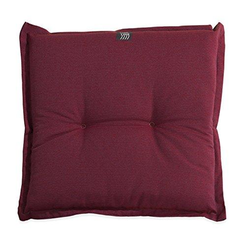 Stuhlkissen Sitzkissen Sitzpolster Gartenstuhlauflage BEERE 2 | B 50 cm x L 50 cm | Bordeaux | Baumwolle | Polyester