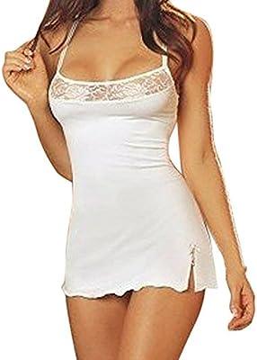 Minetom Mujer Bodydoll Lencería Ropa De Dormir Conjunto De Pijama 1 Vest + 1 Tanga
