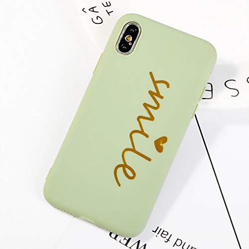 MEISHAON Handyhülle Für iPhone 6 6s 7 8 Plus X Telefon-Kasten-Karikatur-Buchstabe-Kronen-weicher TPU Silikon-Telefon-Kasten für iPhone 7 rückseitige Abdeckung