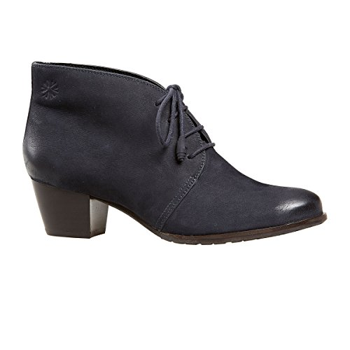 Van Dal Shoes Womens Amity Boots in Blue Nubuck
