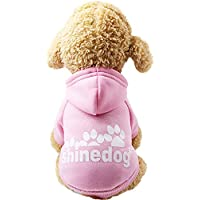 Ropa para Mascotas,Gusspower Sudadera con Capucha Impresión de Letras Moda Mascotas Perros Gatos Caliente algodón Suéter Abrigos