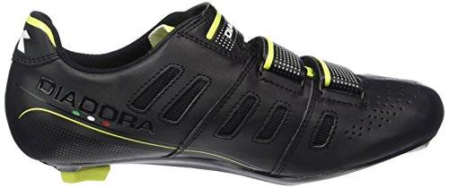 Diadora Unisex-Erwachsene Trivex Plus Ii Radsportschuhe-Rennrad Schwarz (black/yellow fluo8071)