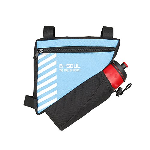 Front-flasche Wasser-tasche (upanbike Bike Tasche Triangle Rahmen 1,5l Polyester vorne Tube Tasche Fahrrad Sattel Tasche mit Wasser Flaschenhalter (Wasser Flasche Ont enthalten), blau)