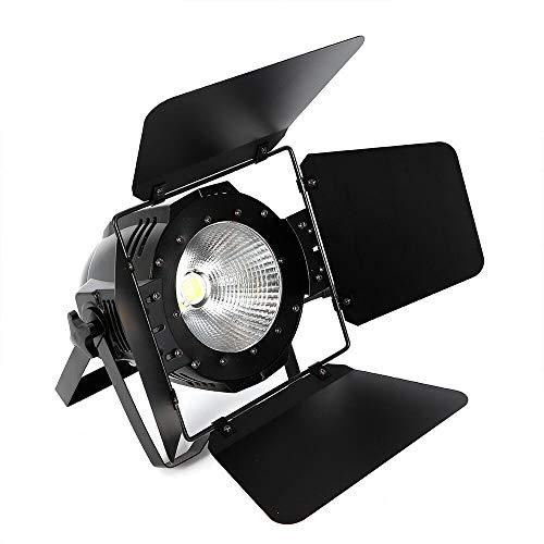 200W LED Par Bühnenbeleuchtung 2 in 1 Bühnenlicht Strahler COB Außen Spot Licht IP64 Scheinwerfer Spot Licht DMX-512, Master/Slave, Sound, Auto Filmstütze Licht Par 36 Pin Spot