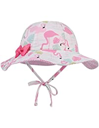 EOZY Mädchen Baby Sonnenhut UV Schutz Sonnenmütze mit Schleife Fischerhut
