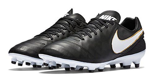 Nike Tiempo Genio II Leather IC, Chaussures de football homme Black/White