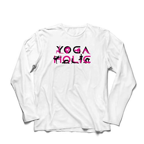 lepni.me Herren T Shirts Yoga Holic, Positive Vibrationen, motivierende Workout-Zitate, Yogi-Liebhaber-Geschenk (XS Weiß Mehrfarben) (Halloween-kostüme Jahrhundert 19)