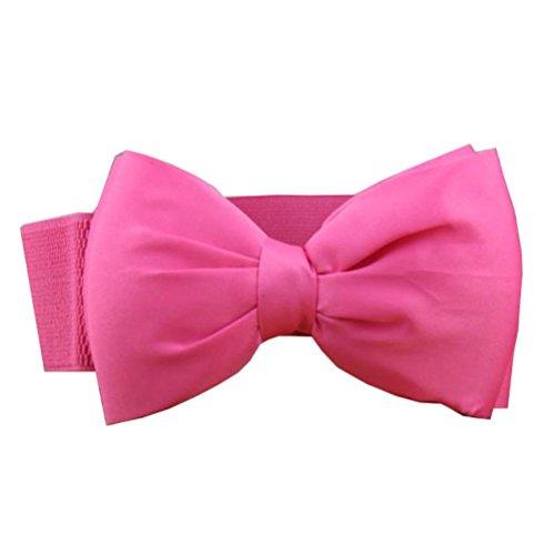 XXL Schleife Breiter Damen Gürtel Taillengürtel Stoff Taille Hochzeit Kleid (Pink)