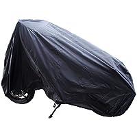 Auto Companion - Telo impermeabile in nylon 190T per moto, per una protezione contro polvere, pioggia e raggi UV Protezione per interni ed esterni, con fori di passaggio per lucchetto; misura XL lunga 240 cm