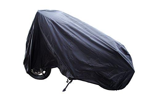 Auto Companion Motorrad-Abdeckplane, 190T Nylon, wasserdicht, staubfest, regenfest, UV-beständig, Schutz für den Innen- und Außenbereich, mit Verriegelungslöchern, 240 cm