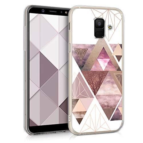 kwmobile Samsung Galaxy A6 (2018) Hülle - Handyhülle für Samsung Galaxy A6 (2018) - Handy Case in Rosa Rosegold Weiß