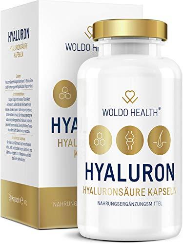 Hyaluronsäure Kapseln hochdosiert mit Collagen Biotin & Vitamin Zink - Hyaloronsäure laborgeprüft geeignet für Haut, Anti-Aging und Gelenke - 90x vegane Kapseln für 3 Monatsvorrat
