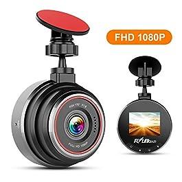 FLYLINKTECH Dash Cam Telecamera per Auto FHD 1080P, Grandangolare di 170°Super-Condensatore WDR, Visione Notturna, Dashcam con Registrazione in Loop, G-Sensor, 1.5″Schermo LCD