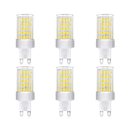 Lampadina LED G9 10W, Equivalenti a 80W, SMD 2835 LED, Lampade a Risparmio Energetico,G9 LED Bianca Fredda 6000K, AC 220-240V, 800 Lumen, Non Dimmerabile, Pacco da 6