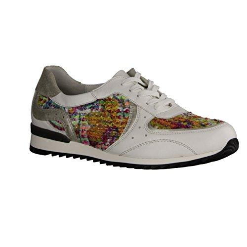 Waldläufer 370005-302-663 Hurly donna Sneaker larghezza H per solette sciolti (weiss silber multi)