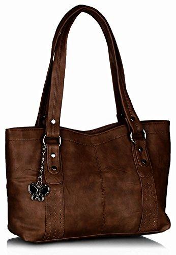 Butterflies Handbag (Brown)(BNS 0241)