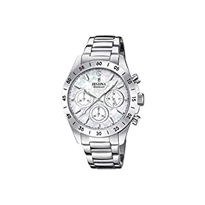 Festina 32002185 – Reloj analógico de cuarzo para mujer, acero inoxidable